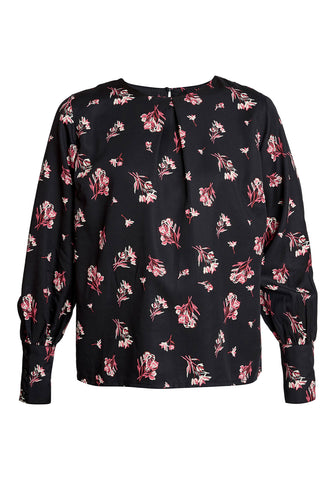 Valentina Bouquet Top Black/Pink