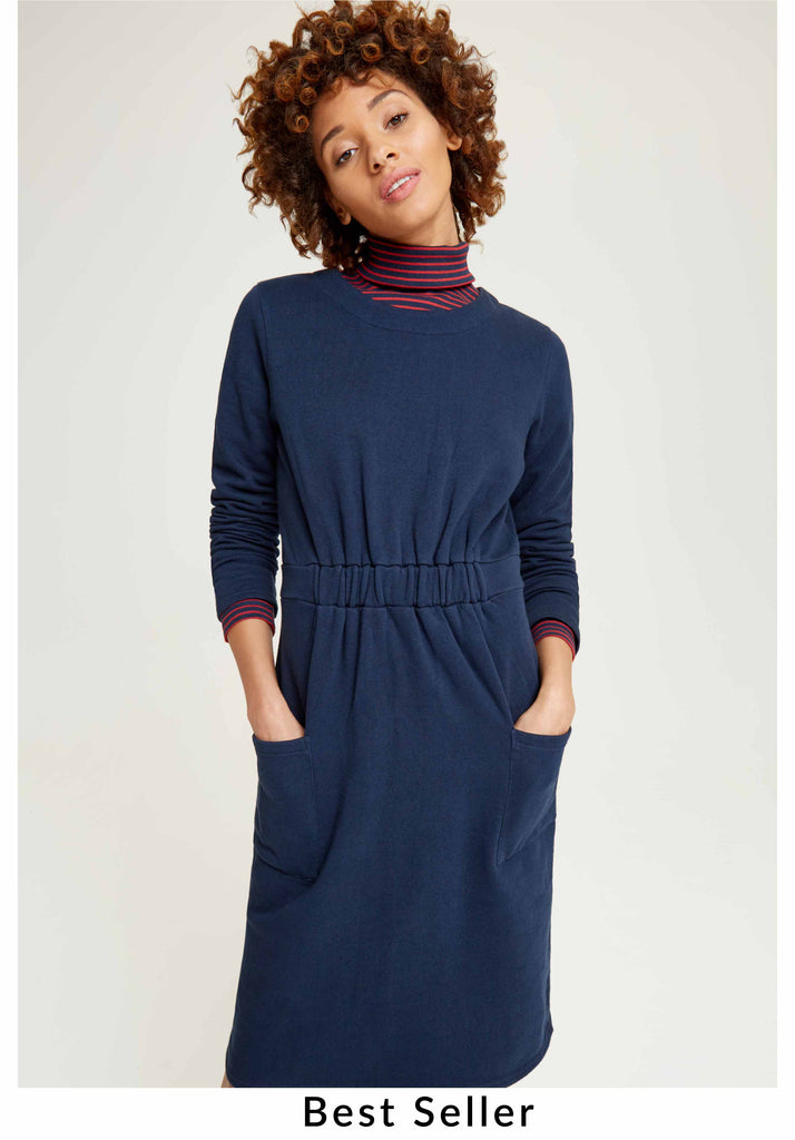 Virginia dress Navy from Charlie + Mary