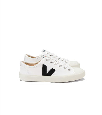 Veja Men's Wata Canvas White Black vegan sneakers