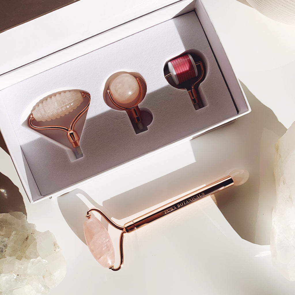 Gemstone Face Roller: Four Head Interchangeable Roller System
