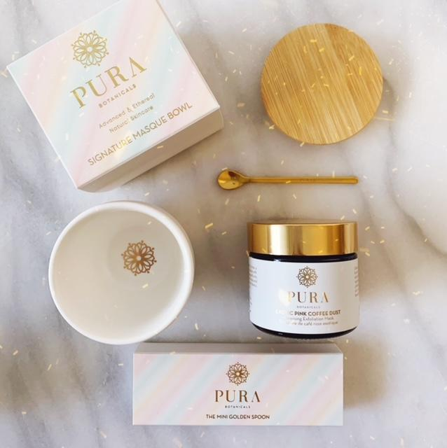 PURA Alchemist Set - Cleansing Exfoliation Mask, Signature Mask Bowl & Mini Golden Spoon