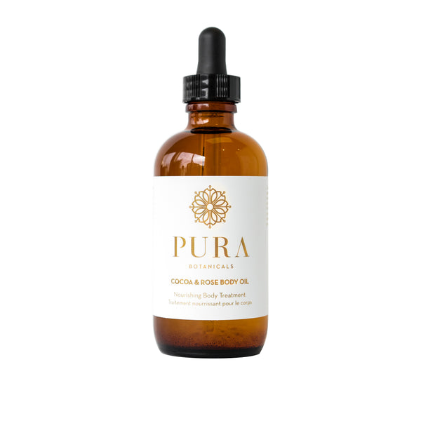 Cocoa & Rose Body and Bath Oil Made By Pura Botanicals