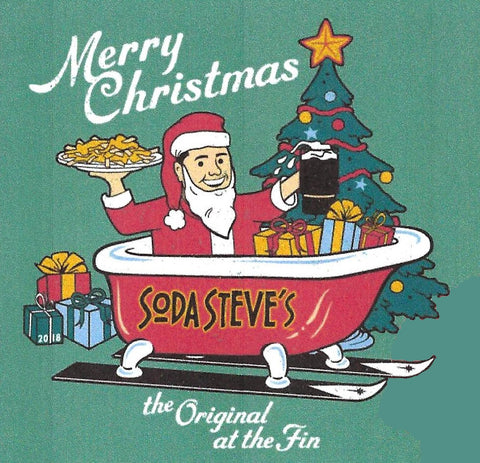 2018 Soda Steve's Christmas Tee, limited edition