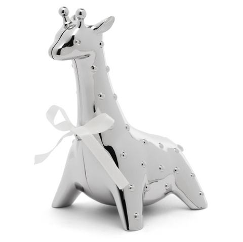 Silver giraffe money box