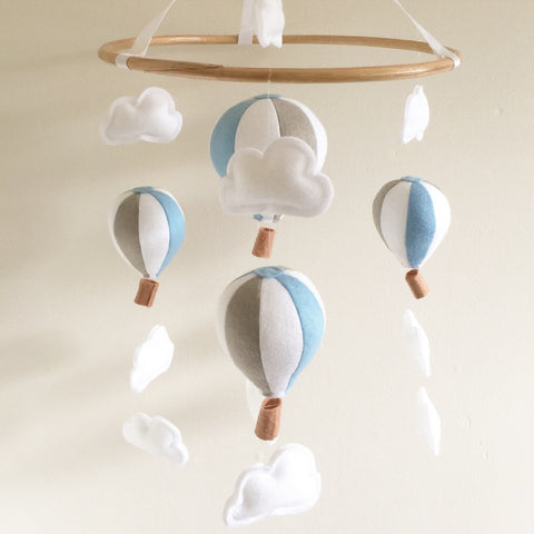 Hot Air Balloon Mobile - Blue