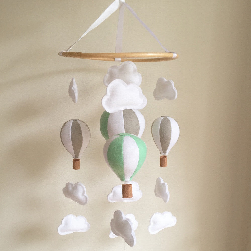 Hot Air Balloon Mobile - Mint