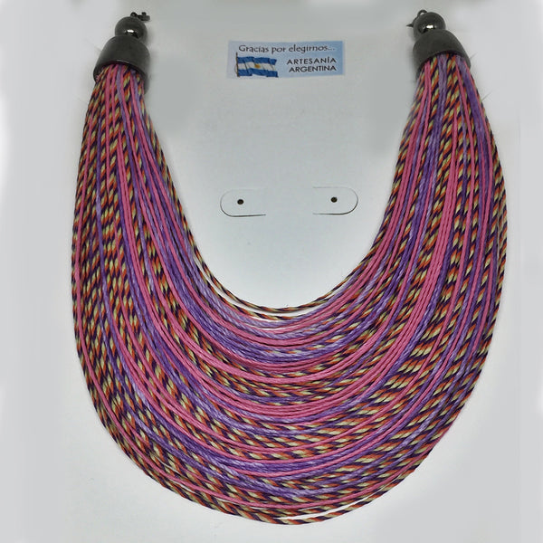 Pink Thread Necklace