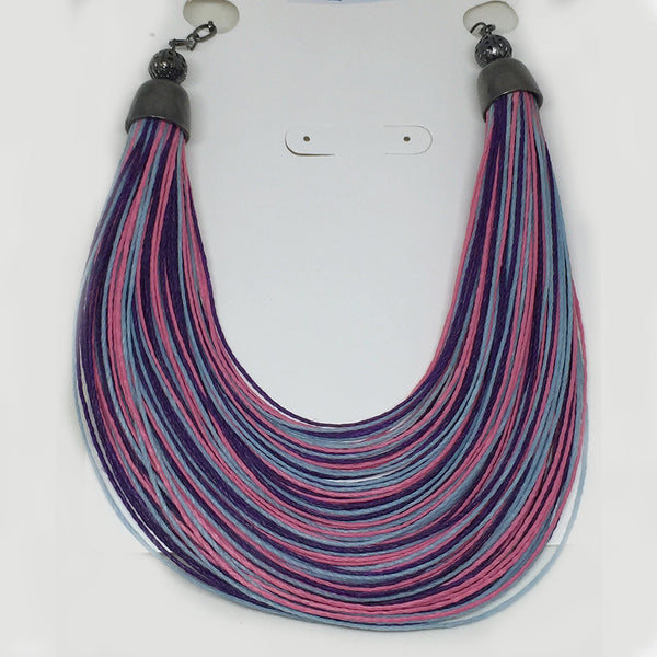 Purple Thread Necklace