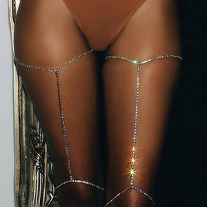 Take It Off Crystal Thigh Chain