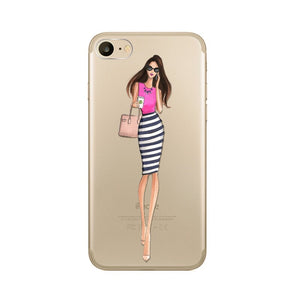 The Uptown Girl Transparent iPhone Case