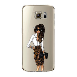 Girl Boss Transparent Samsung Case
