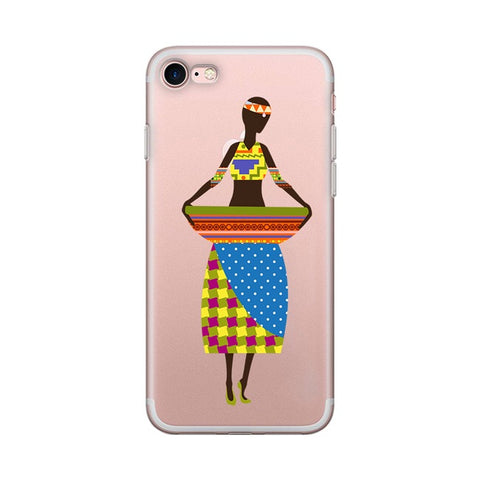 Binta AfricanTransparent iPhone Case