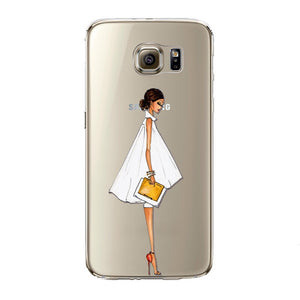 Classy Girl Transparent Samsung Case