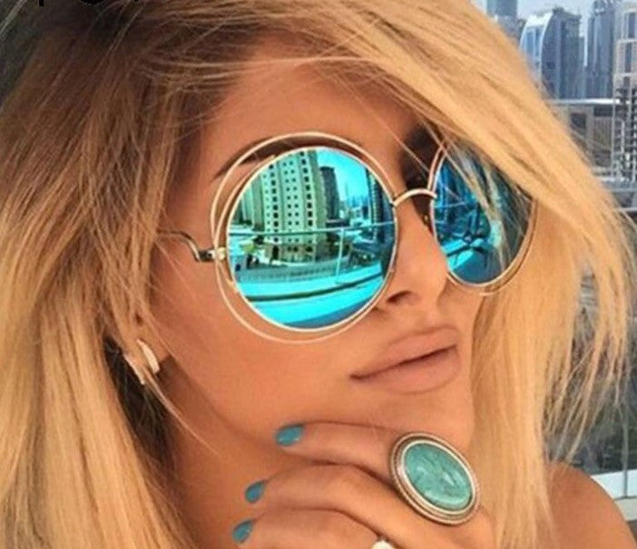 Vintage Oversized Round Anti-reflective Sunglasses