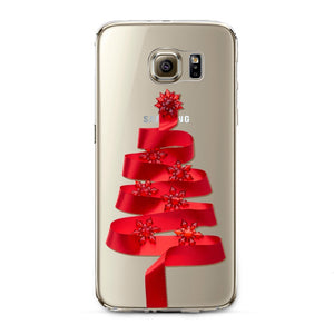 Red Ribbons Transparent Samsung Case