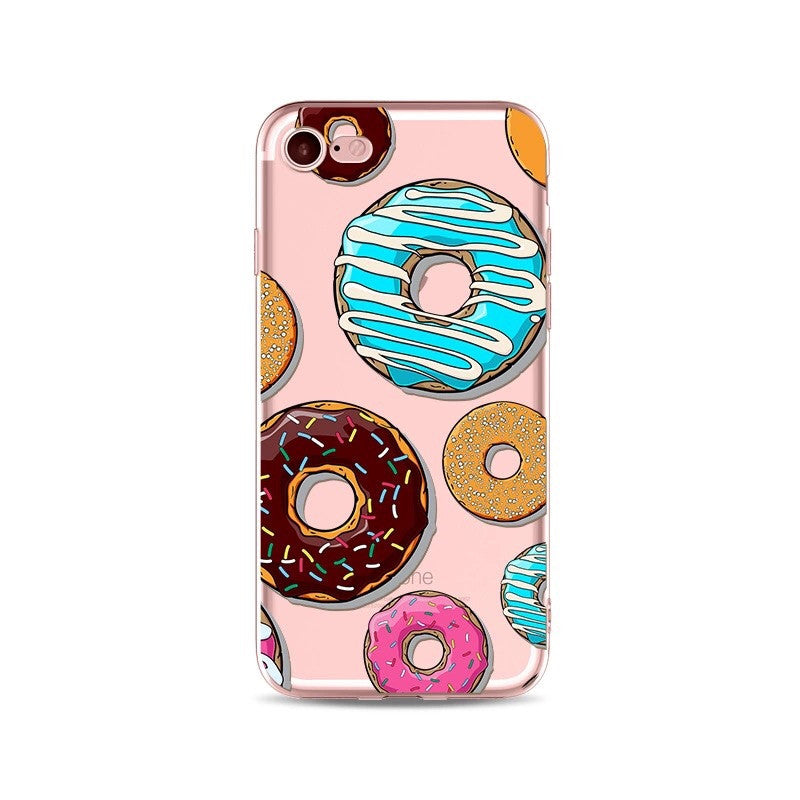 Donut Run Transparent iPhone Case