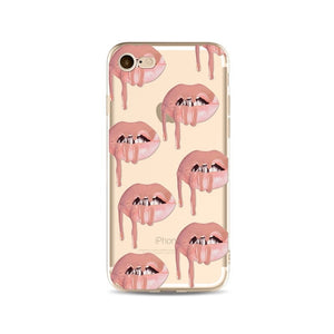 Lips Like Kylie Transparent iPhone Case - Send Me Nudes