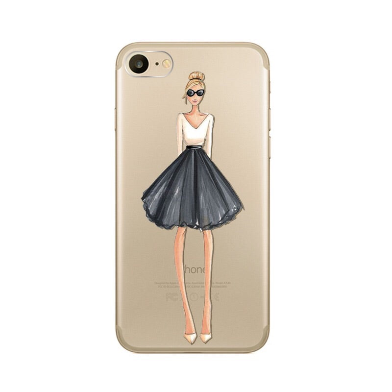 The Trendy Girl Transparent iPhone Case