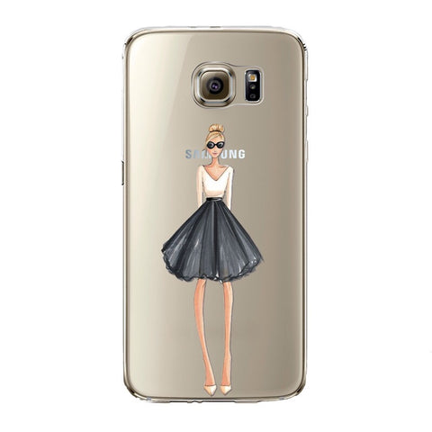 The Trendy Girl Transparent Samsung Case