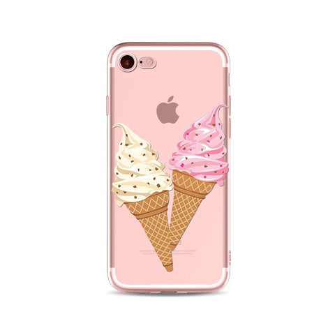 Ice-Cream Cones Transparent iPhone Case