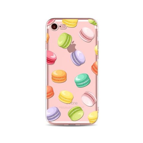 Macaron Party Transparent iPhone Case