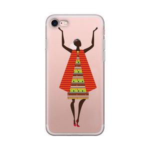 Badiene African Transparent iPhone Case
