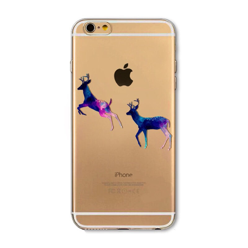 Yes Deer Transparent iPhone Case