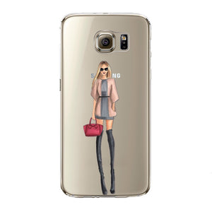 The Chic Girl Transparent Samsung Case