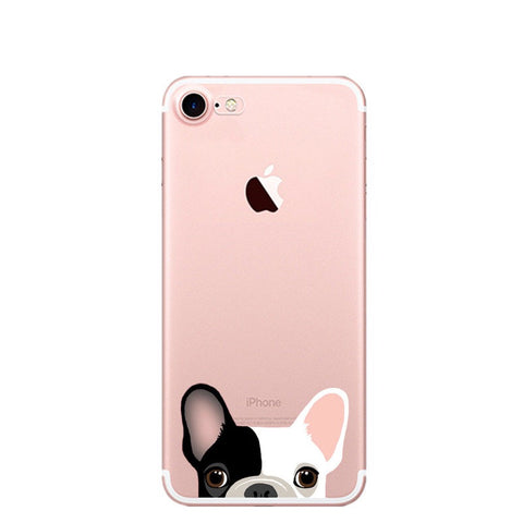 Cute Pug Transparent iPhone Case