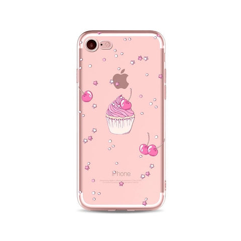 Cherry On Top Transparent iPhone Case