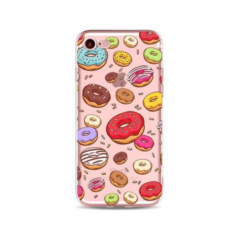 Mini Donuts Transparent iPhone Case