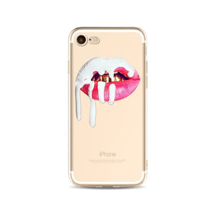 Lips Like Kylie Transparent iPhone Case - Winter