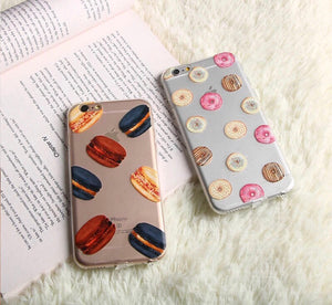 Luxe Macarons Transparent iPhone Case