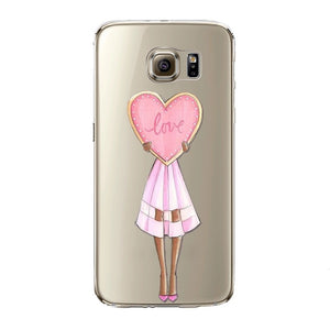 The All About Love Girl Transparent Samsung Case