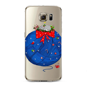 Christmas Knit Transparent Samsung Case