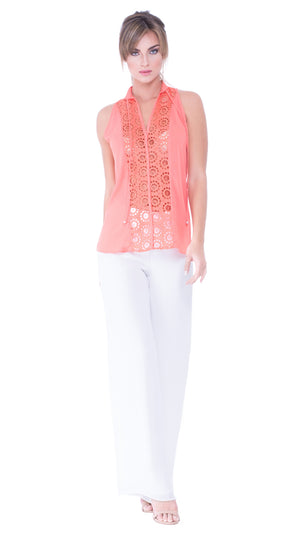 Emma Eyelet Sleeveless Top