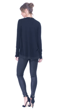Caprice chiffon layer top