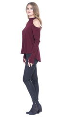Fabela Cold Shoulder Sweater