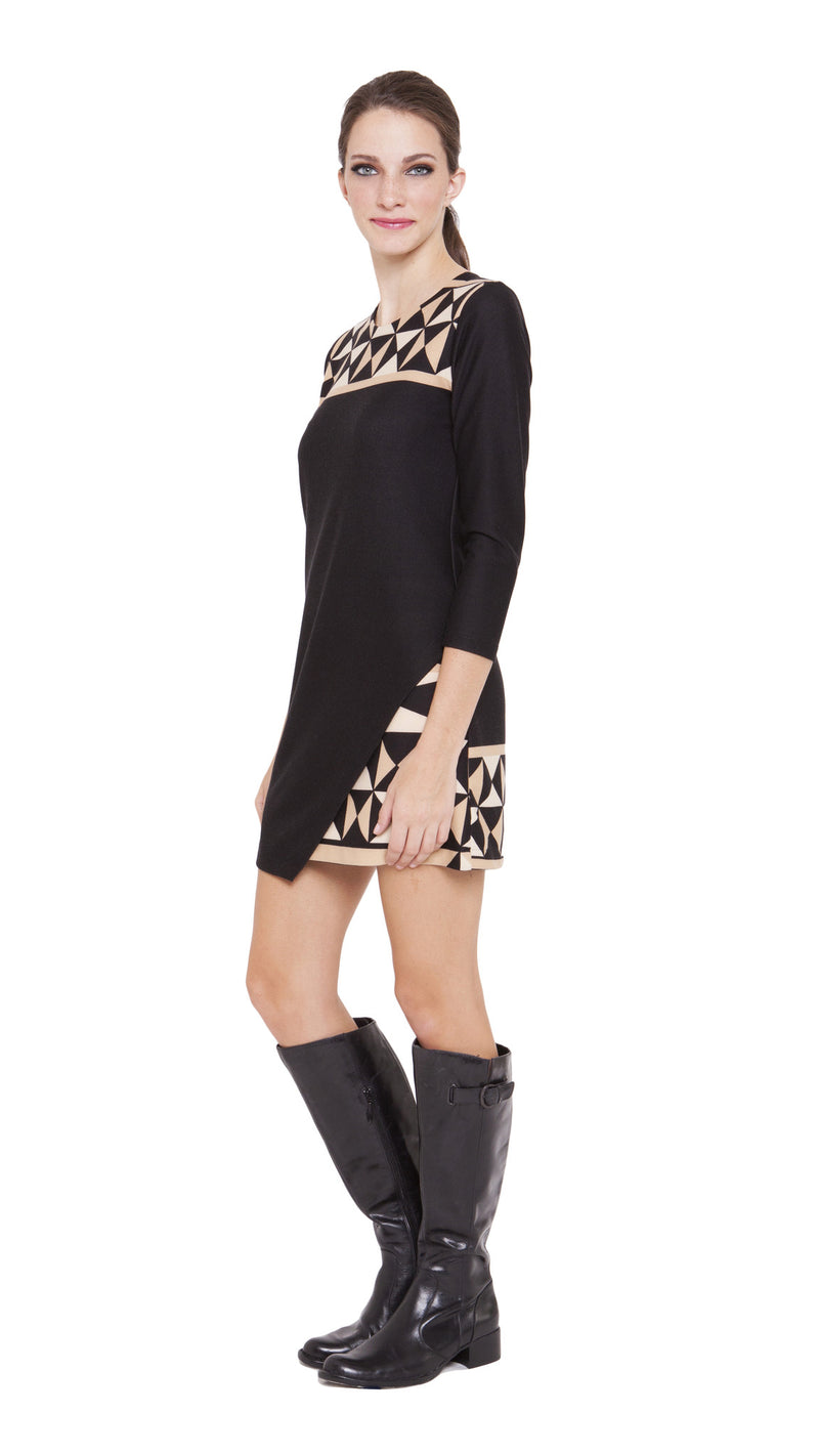 Marina Faux Wrap Dress