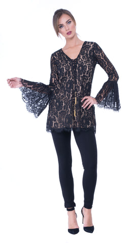 Agatha lace dress-tunic