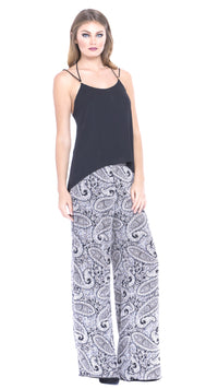 womens black and white pant