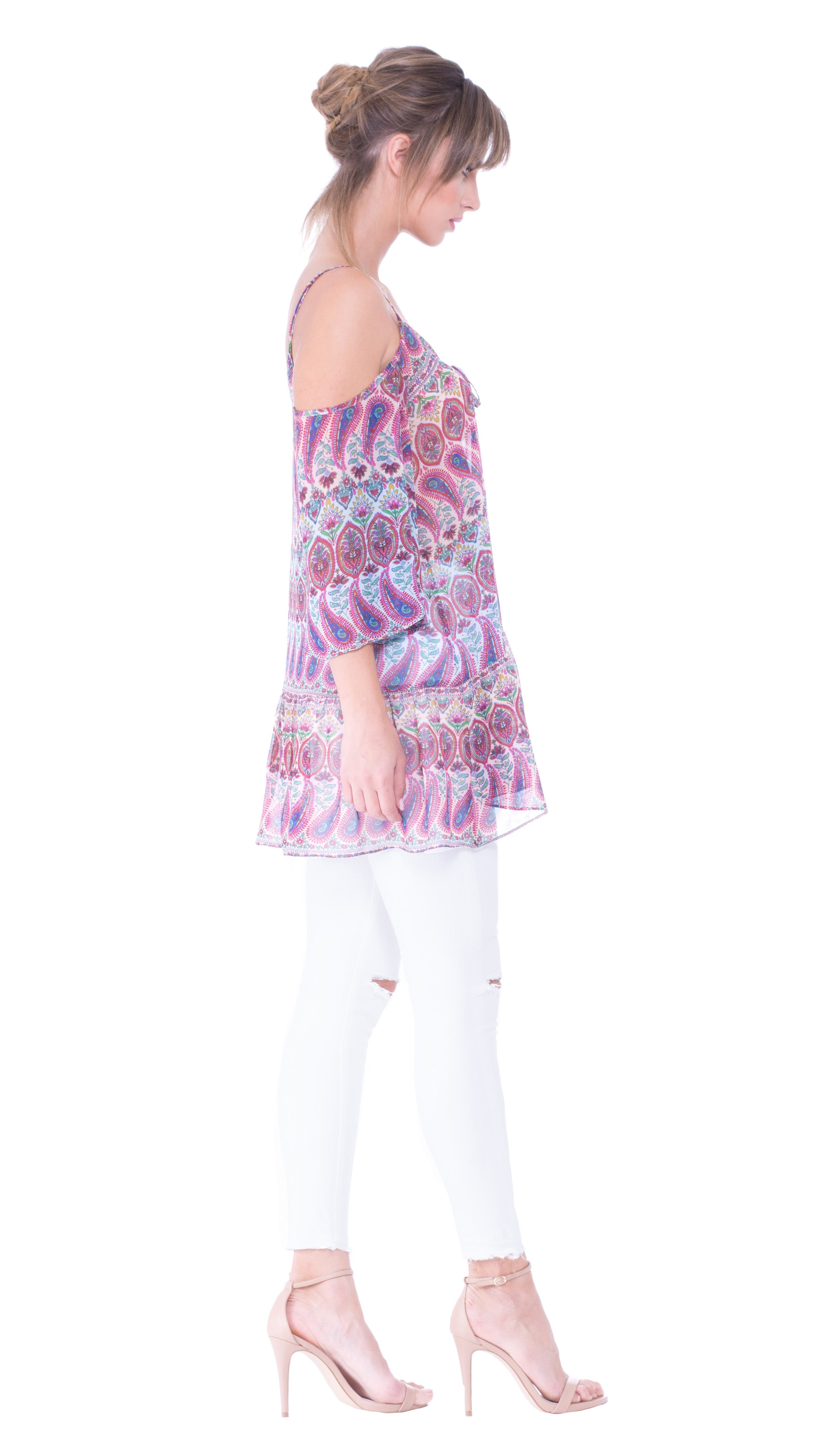 Sophia Cut Out Shoulder Top