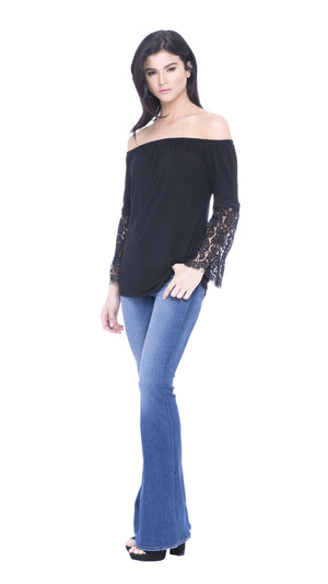 Matty Lace Sleeve Top