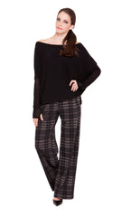 Giselle Plaid Trousers