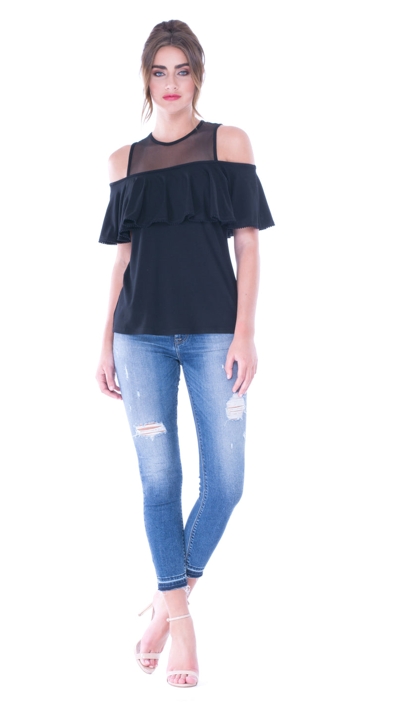 Pam Cold Shoulder Top