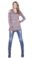 Norma Cold Shoulder Sweater