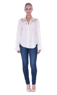Juliette Lace Yoke Top