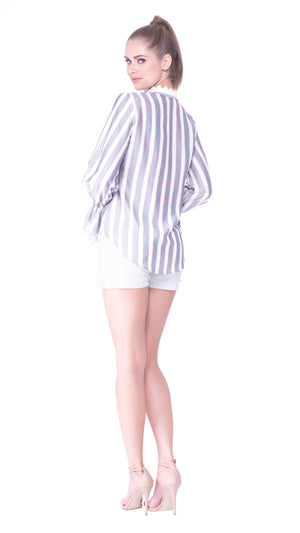 Elena Striped Blouse