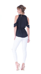 Juliette Cold Shoulder Ruffle Top