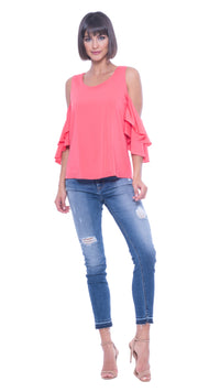 Raquel Cold Shoulder Top